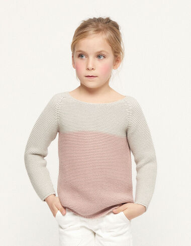 Pull bicolore rose - Kids jumpers & Sweatshirts - Nícoli