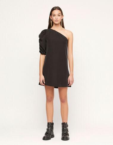 Black asymmetric dress - View all > - Nícoli
