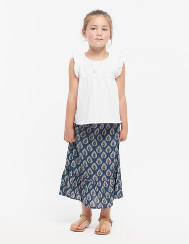 Blue leaves long skirt - View all > - Nícoli