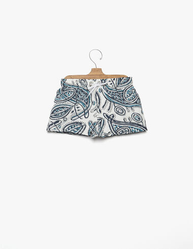 Blue paisley boy's swimsuit - View all > - Nícoli