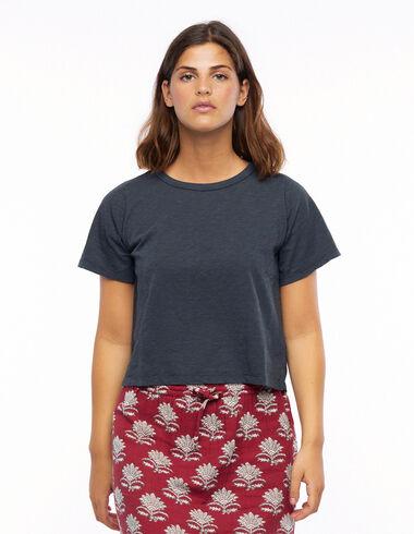 Anthracite short sleeve T-shirt - T-shirts - Nícoli