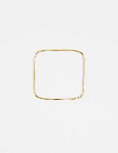 Squared bracelet in gold tone - View all > - Nícoli