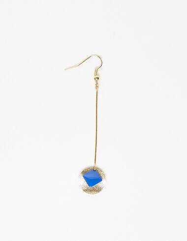 Blue diamond circle drop earring - New in - Nícoli