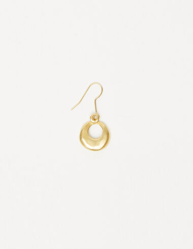 Small circle earrings in gold tone - The jewellery edition - Nícoli