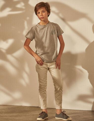 Boy's off-white 5-pocket trousers - Pants - Nícoli