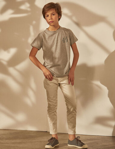 Pantalón niño 5 bolsillos crudo - Pantalones largos - Nícoli