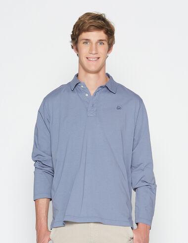Boy's dark lavender long-sleeved polo shirt - Polo shirts - Nícoli