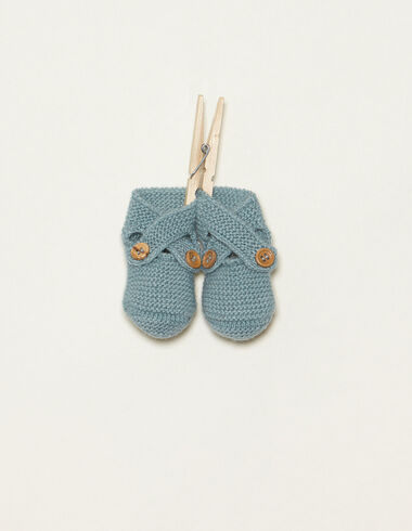 Light blue bootees with buttons - Accesories - Nícoli