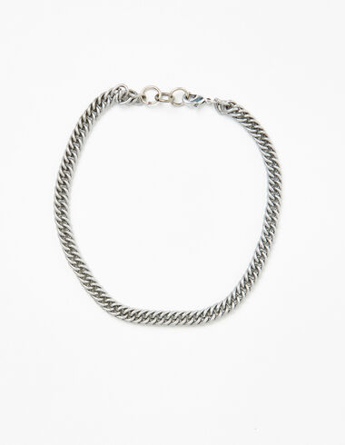Silver wide chain necklace - View all > - Nícoli