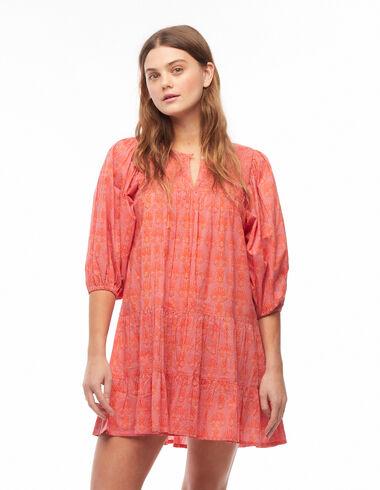 Strawberry herringbone lantern sleeve dress - Dresses - Nícoli