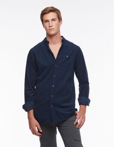Blue corduroy shirt pocket - View all > - Nícoli