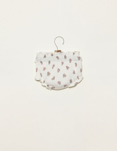 Bloomer froncé rose imprimé fleurs - Voir tout > - Nícoli