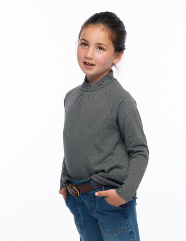 Camiseta cuello perkins gris - Ver todo > - Nícoli
