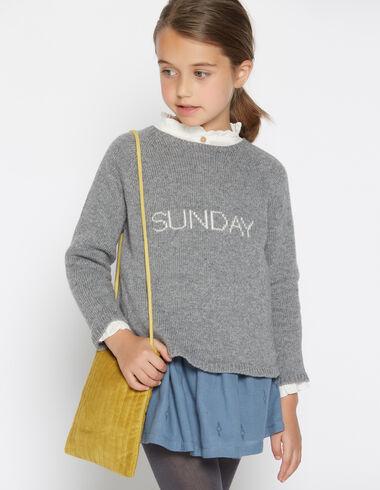 Girls' grey Sunday sweater - Pullovers & Sweatshirts - Nícoli