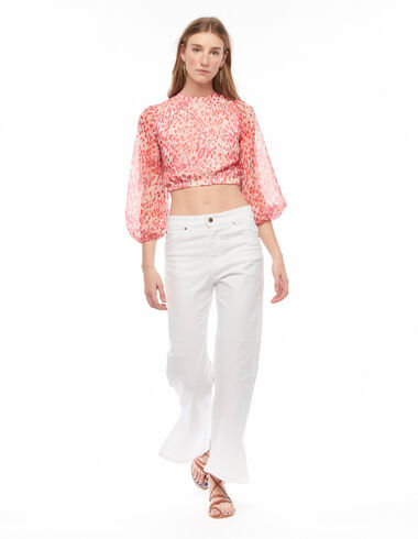 Strawberry rope print back shirt - View all > - Nícoli