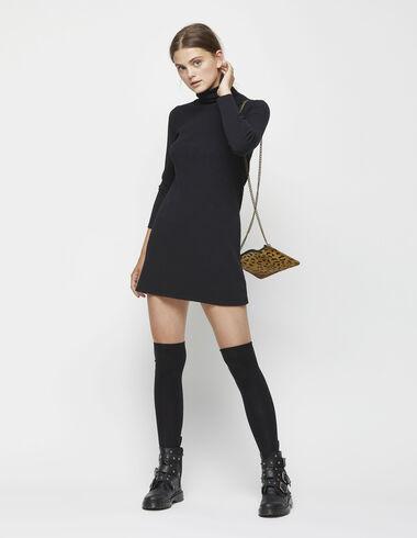 Black high neck dress - Dresses - Nícoli