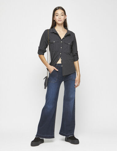 Wide leg jeans with pockets - View all > - Nícoli