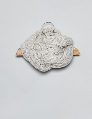 Grey drop stitch baby scarf - View all > - Nícoli