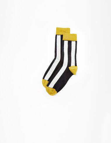 Chaussettes rayées écru/anthracite  - Voir tout > - Nícoli