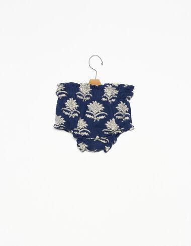 Bloomer élastiques fleur indienne bleu - The Autumn Print - Nícoli