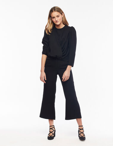 Sparkly black straight trousers - View all > - Nícoli