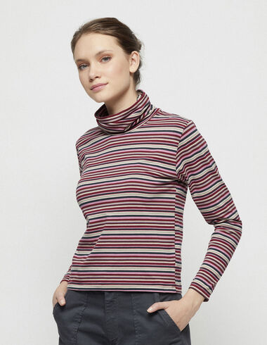 Dark striped turtleneck top - New in - Nícoli