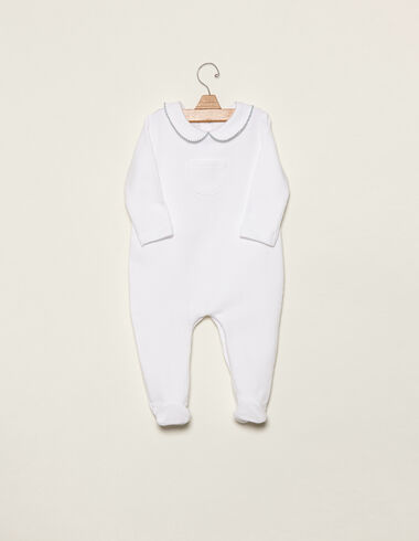 Blue baby pyjamas with topstitching - View all > - Nícoli