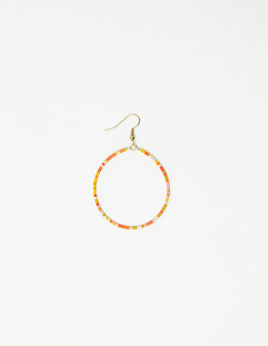 Orange beaded hoop earring - View all > - Nícoli