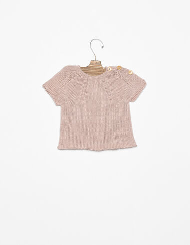 Pink short-sleeved jumper - View all > - Nícoli