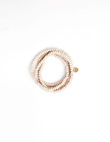 Ecru beaded necklace - Necklaces - Nícoli
