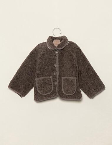 Manteau imitation mouton taupe - Voir tout > - Nícoli