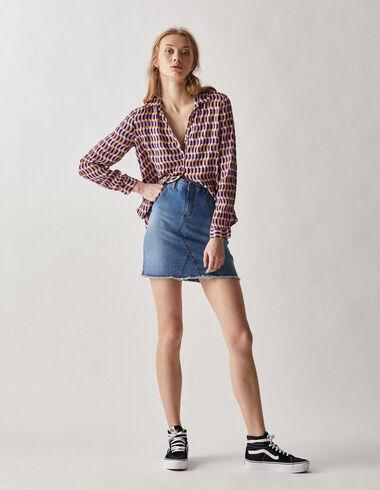 Women's  denim mini skirt - Skirts - Nícoli