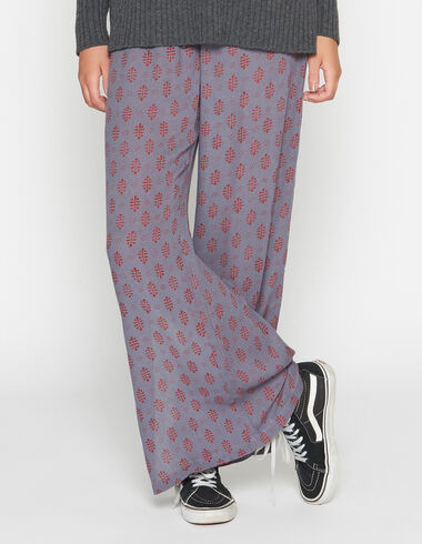 Girl's rust buti trousers with opening - View all > - Nícoli
