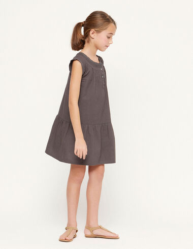 Anthracite shirred dress - Spring Favourite Selection - Nícoli