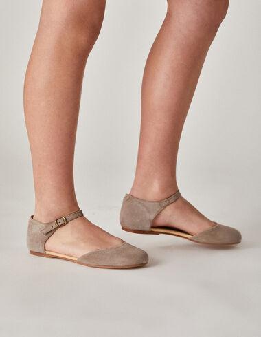Merceditas niña abiertas grises - Zapatos - Nícoli