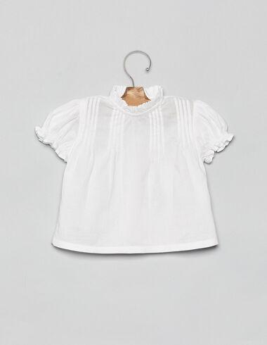Chemise blanche plissée bébé - Voir tout > - Nícoli