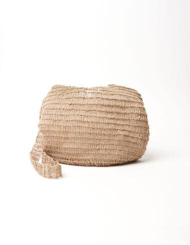 Bolso saco rafia natural - Raffia - Nícoli