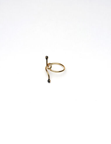 """""""Twisted Line"""" gold ring - View all > - Nícoli"""