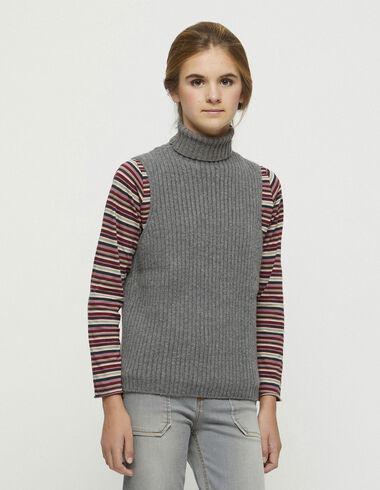 Grey ribbed vest - New in - Nícoli