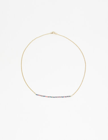 Multicoloured beads necklace in gold tone - Necklaces - Nícoli