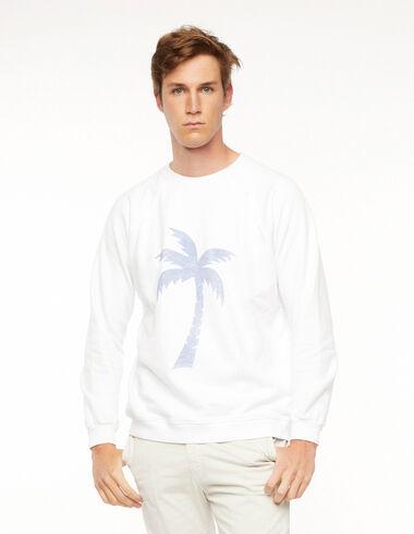 Sudadera palmera blanca - The New Palm Tree - Nícoli