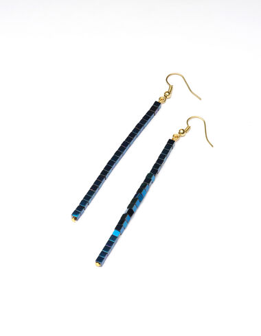 Pendientes cubos grandes Electric blue night - New in - Nícoli