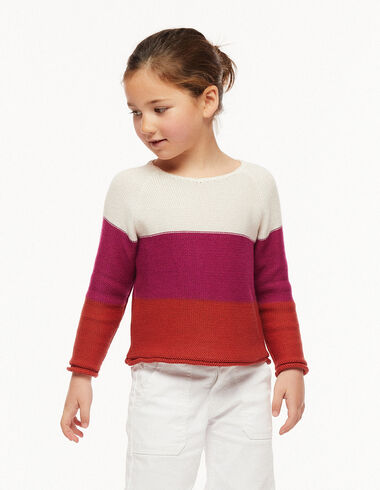 Pink and orange striped jumper - View all > - Nícoli