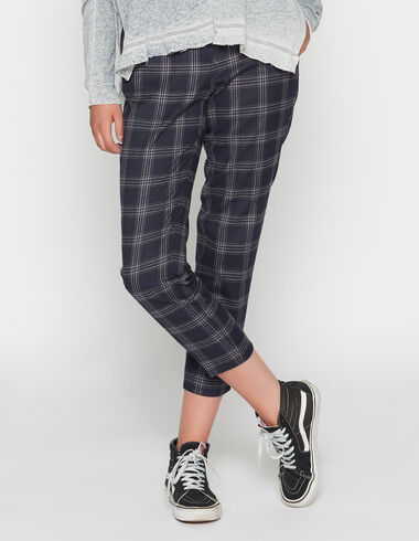 Girl's blue check trousers - View all > - Nícoli