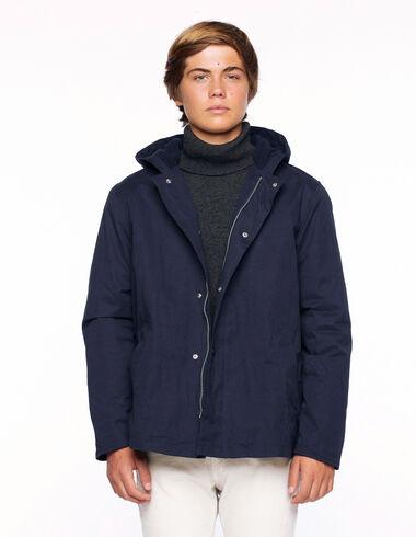 Abrigo capucha azul - Everyday Coats - Nícoli