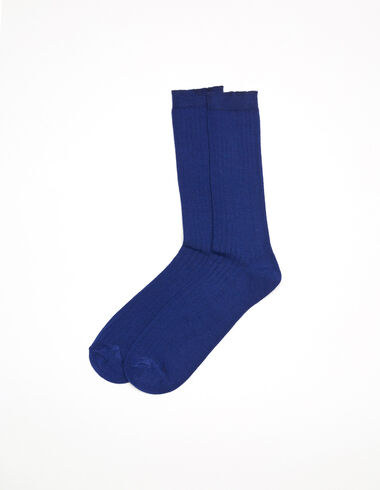 Electric blue ribbed socks - View all > - Nícoli