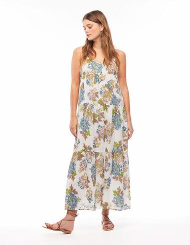 Vestido largo flor grande azul - Gift Ideas By Isabelle Dubrulle - Nícoli