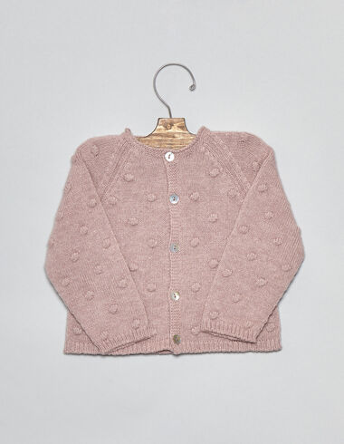 Pink bobble baby cardigan - View all > - Nícoli