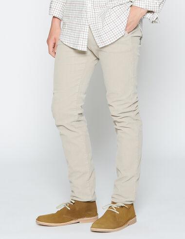 Pantalon en velours côtelé beige pour garçons - Voit tout > - Nícoli