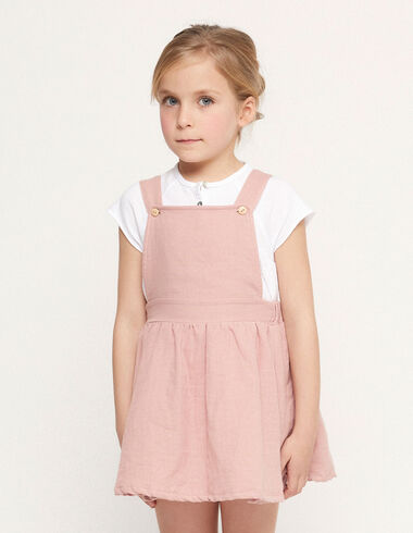 Pink pinafore dress with buttons - View all > - Nícoli
